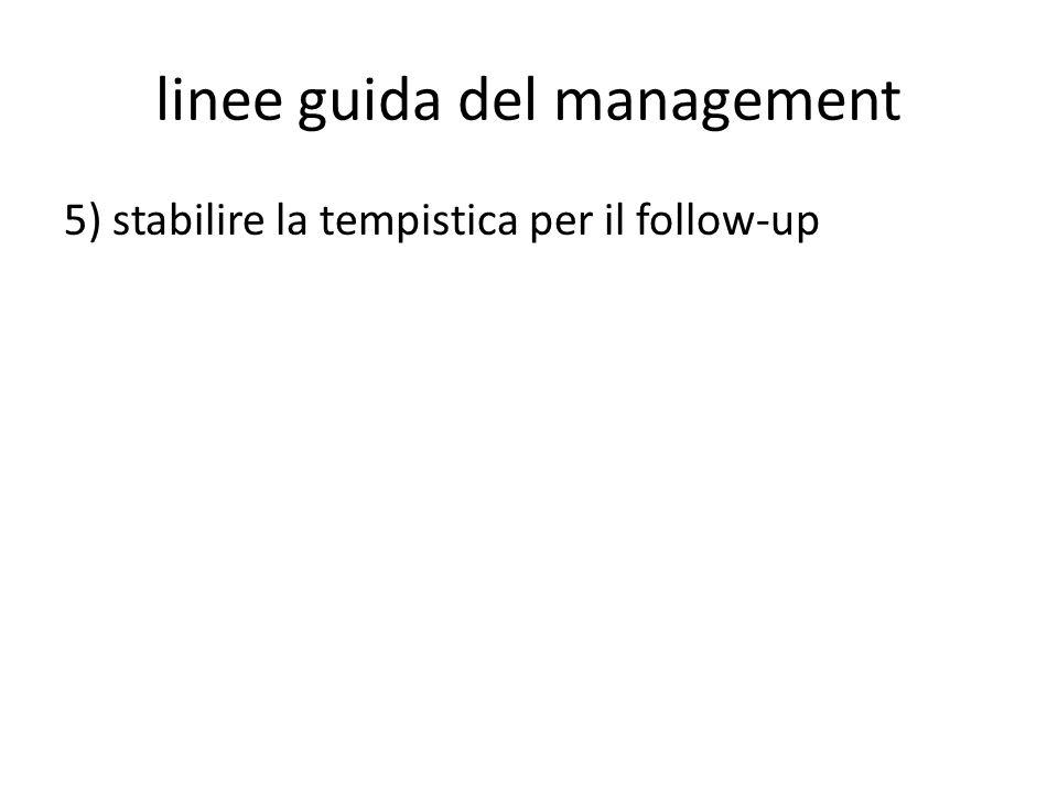 linee guida del management