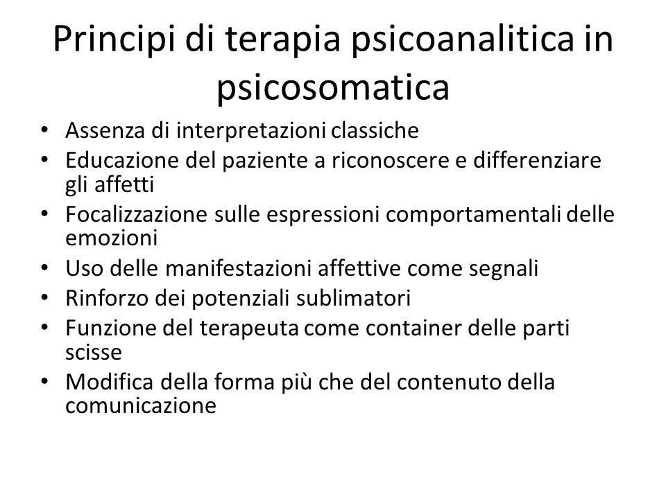 Principi di terapia psicoanalitica in psicosomatica