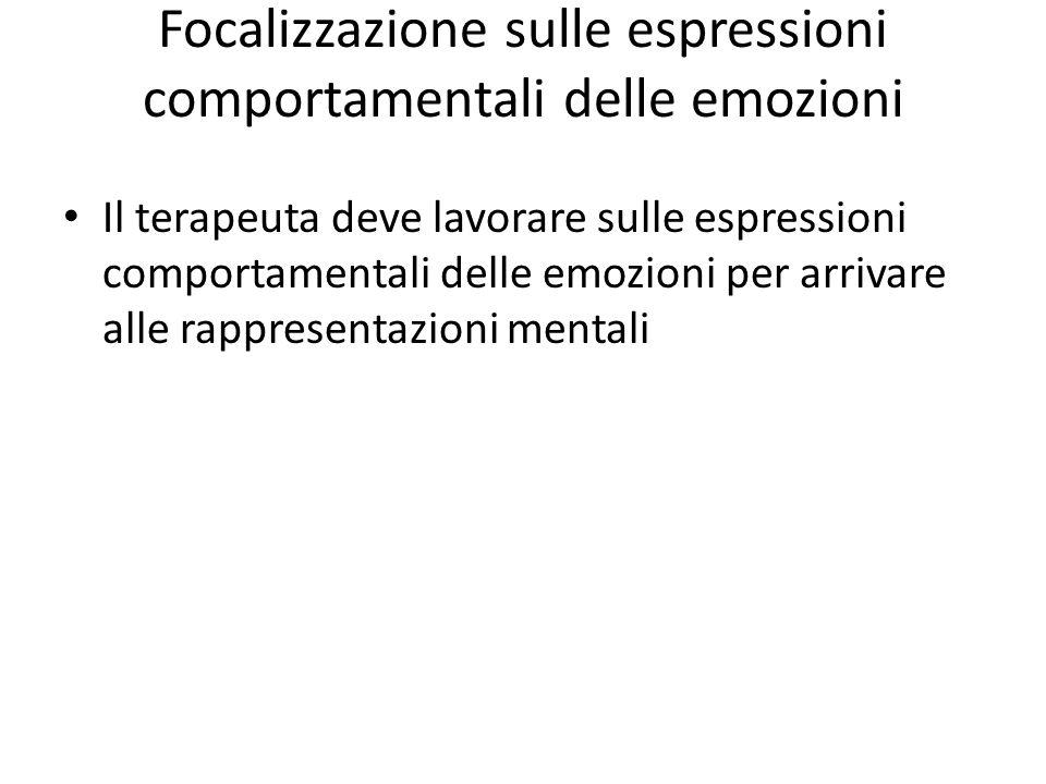Focalizzazione sulle espressioni comportamentali delle emozioni