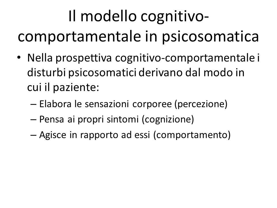 Il modello cognitivo-comportamentale in psicosomatica
