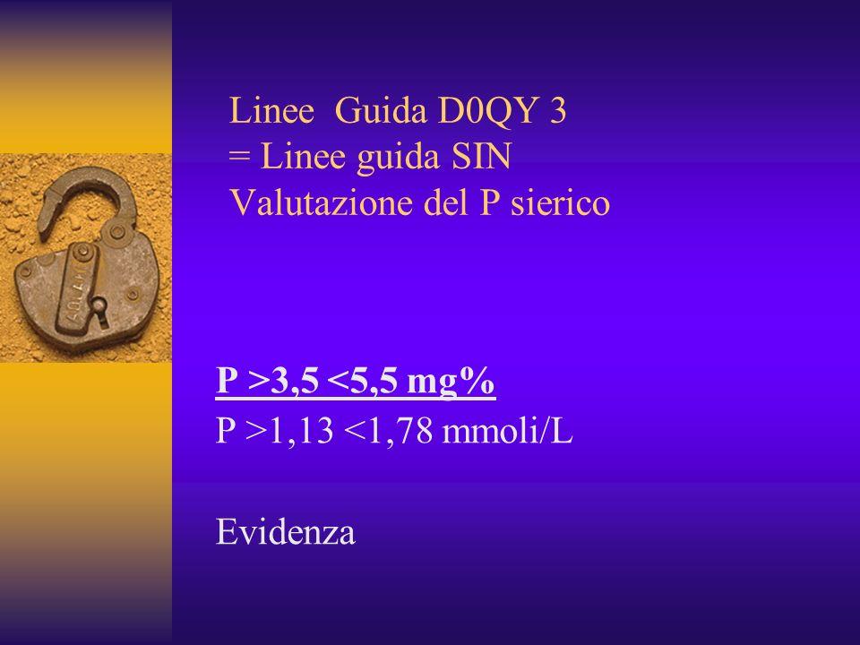Linee Guida D0QY 3 = Linee guida SIN Valutazione del P sierico