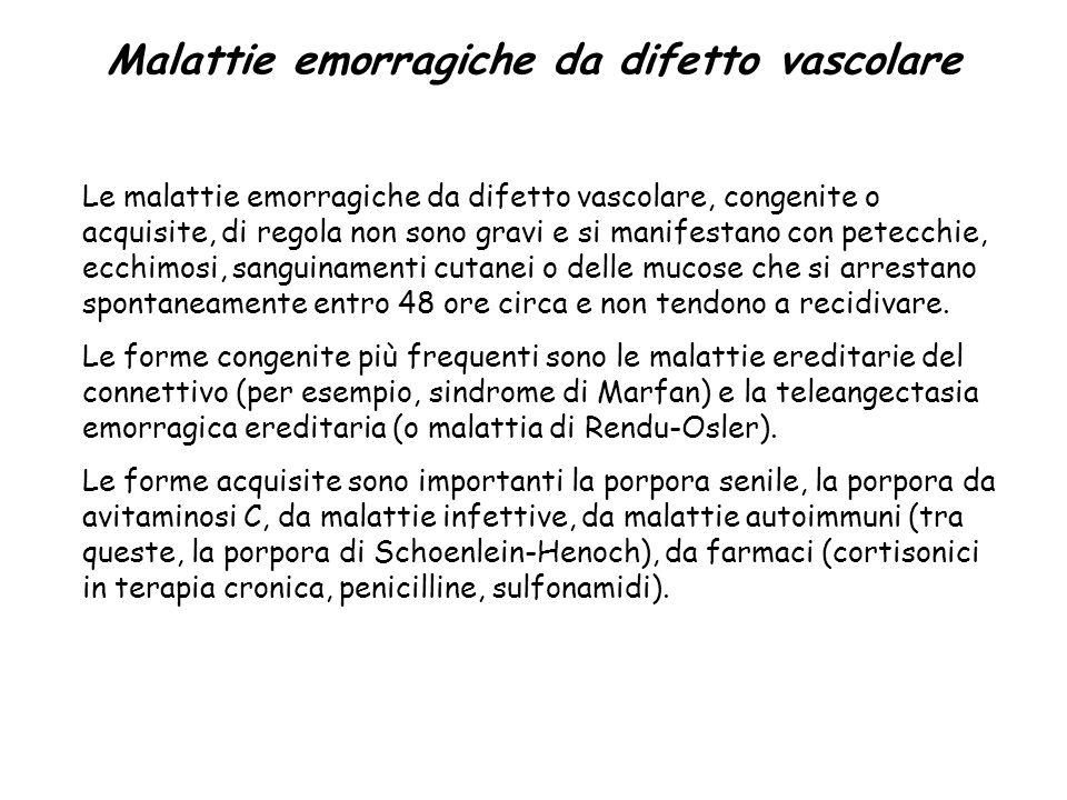 Malattie emorragiche da difetto vascolare