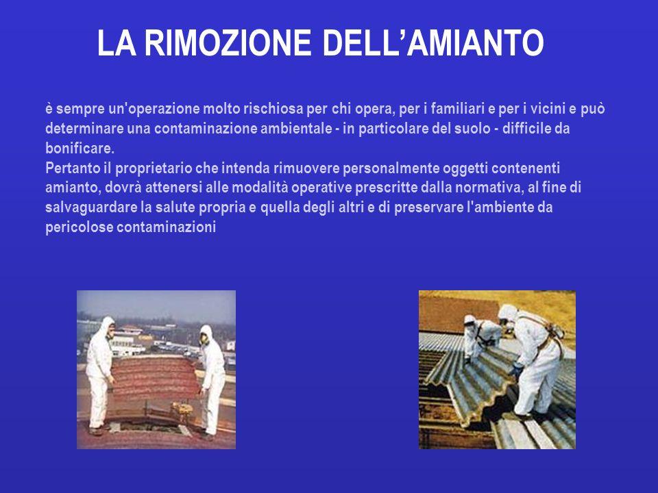 LA RIMOZIONE DELL'AMIANTO