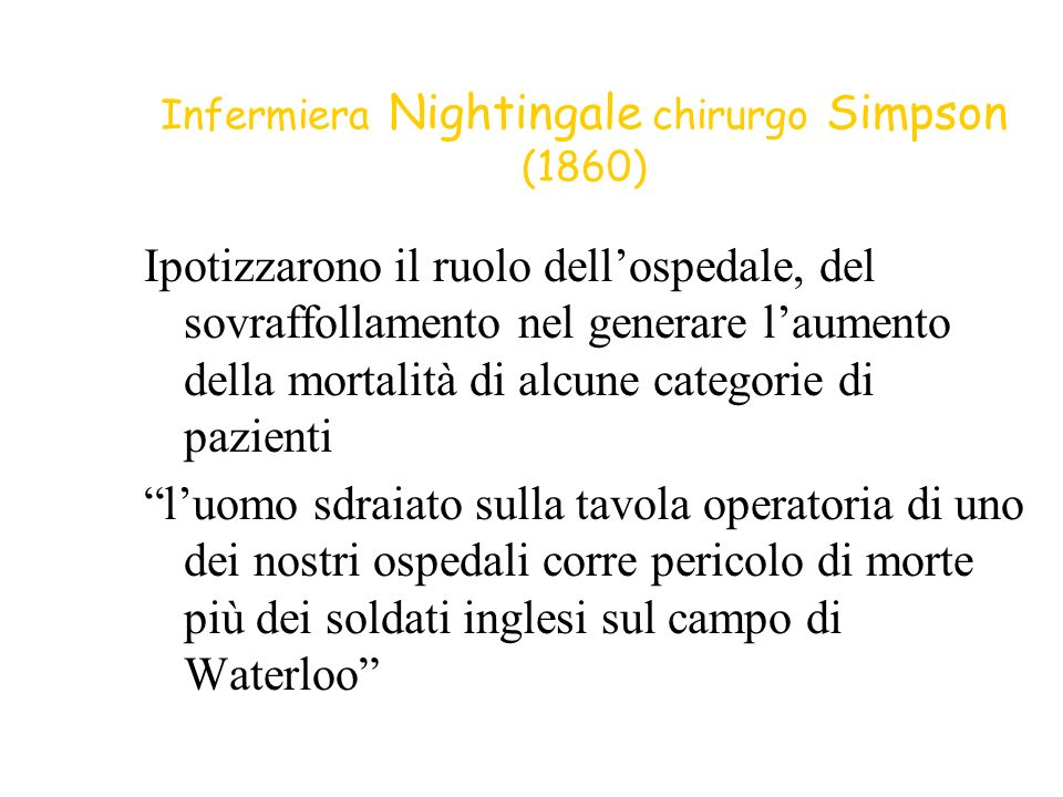 Infermiera Nightingale chirurgo Simpson (1860)