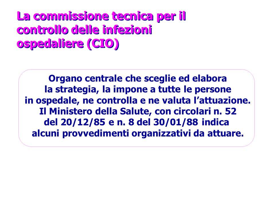 La commissione tecnica per il controllo delle infezioni