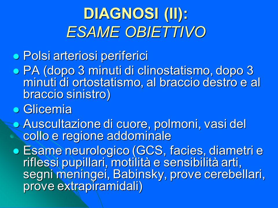 DIAGNOSI (II): ESAME OBIETTIVO