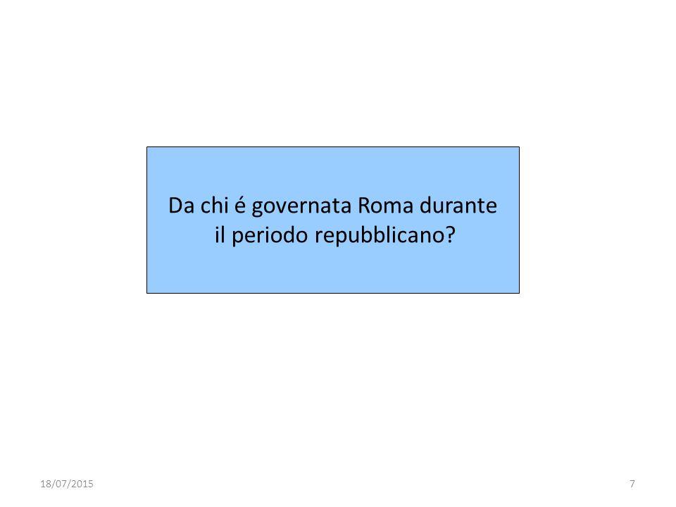 Da chi é governata Roma durante il periodo repubblicano