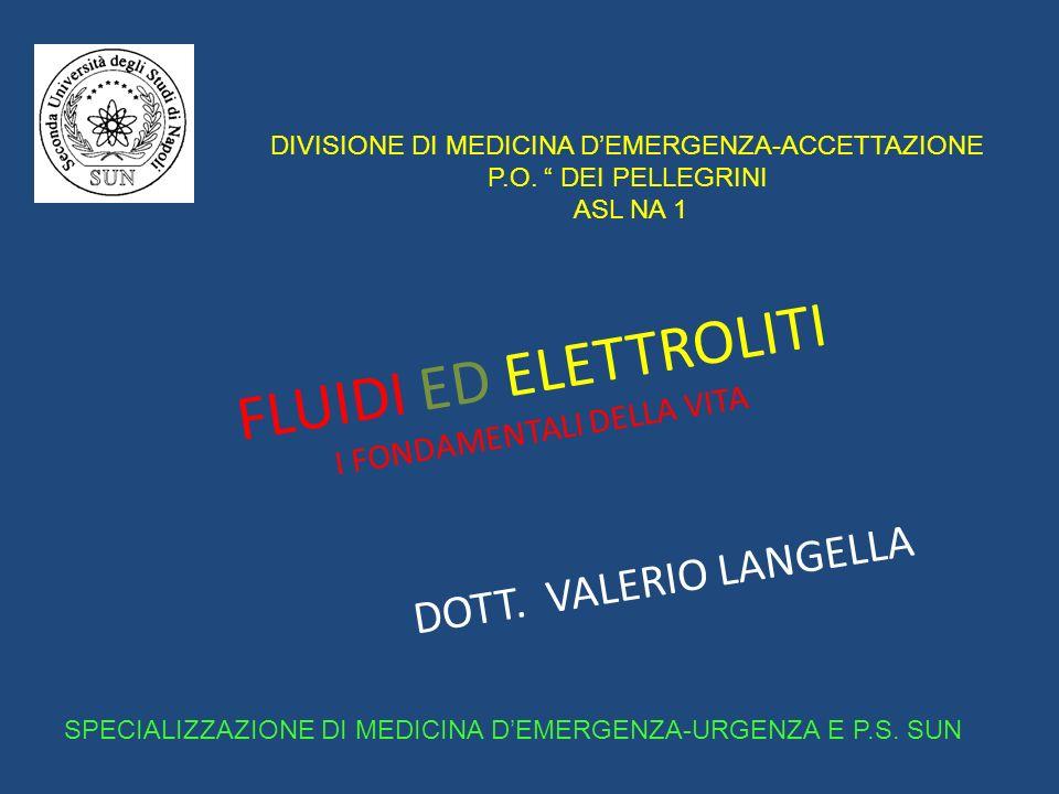 FLUIDI ED ELETTROLITI I FONDAMENTALI DELLA VITA