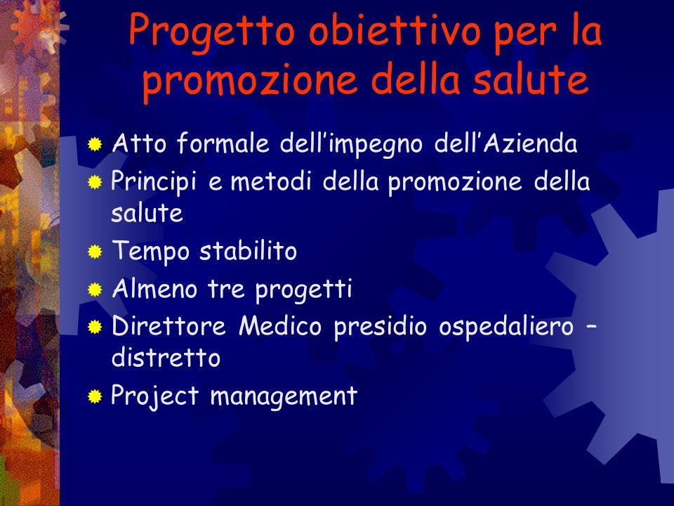 Progetto obiettivo per la promozione della salute