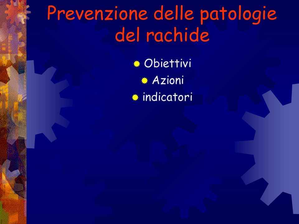 Prevenzione delle patologie del rachide