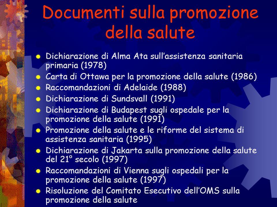 Documenti sulla promozione della salute