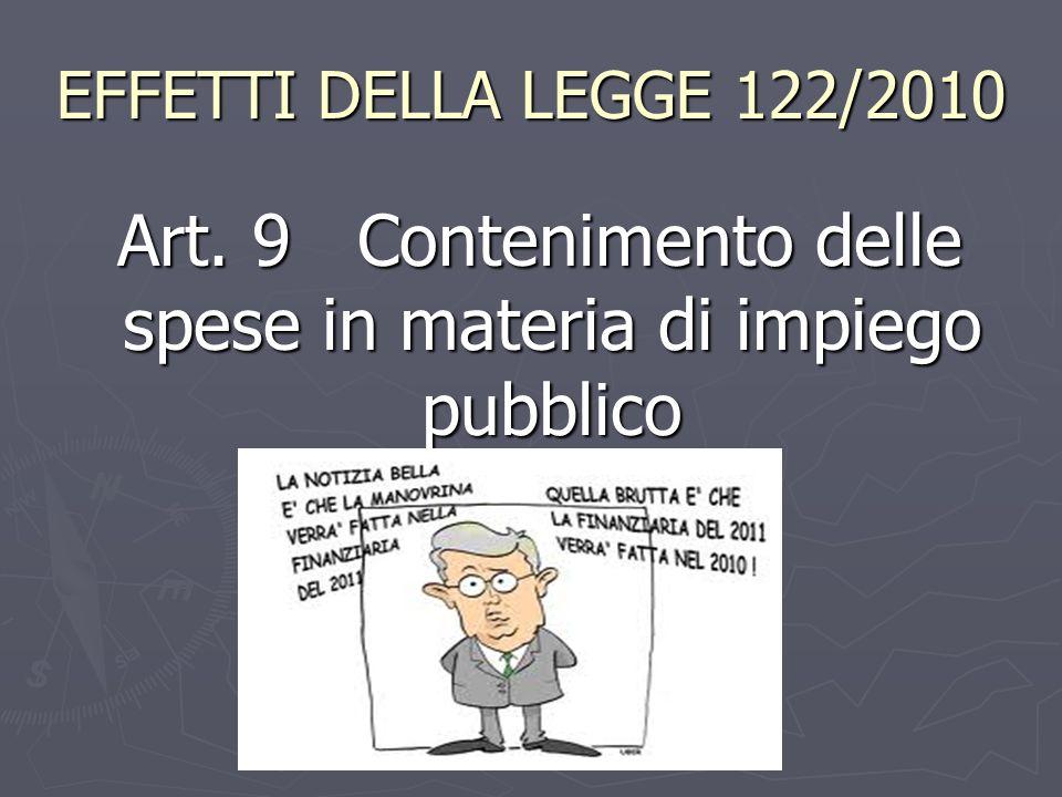 Art. 9 Contenimento delle spese in materia di impiego pubblico