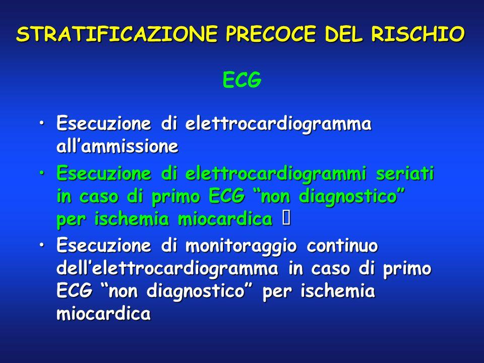 STRATIFICAZIONE PRECOCE DEL RISCHIO