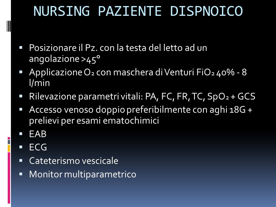 NURSING PAZIENTE DISPNOICO