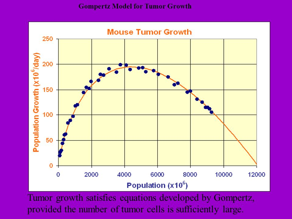Gompertz Model for Tumor Growth