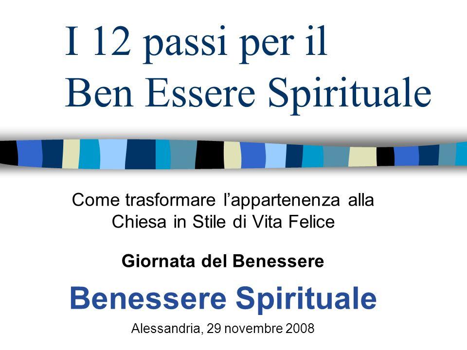 I 12 passi per il Ben Essere Spirituale