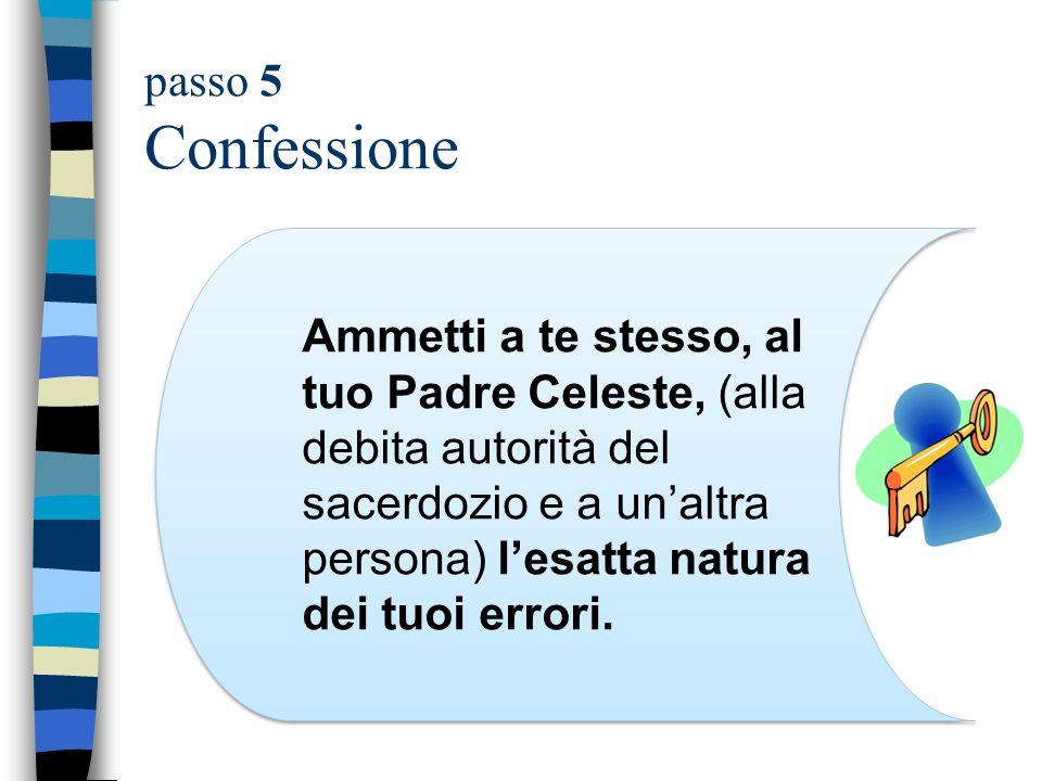 passo 5 Confessione