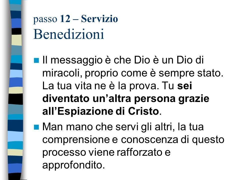 passo 12 – Servizio Benedizioni