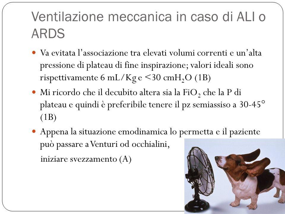 Ventilazione meccanica in caso di ALI o ARDS