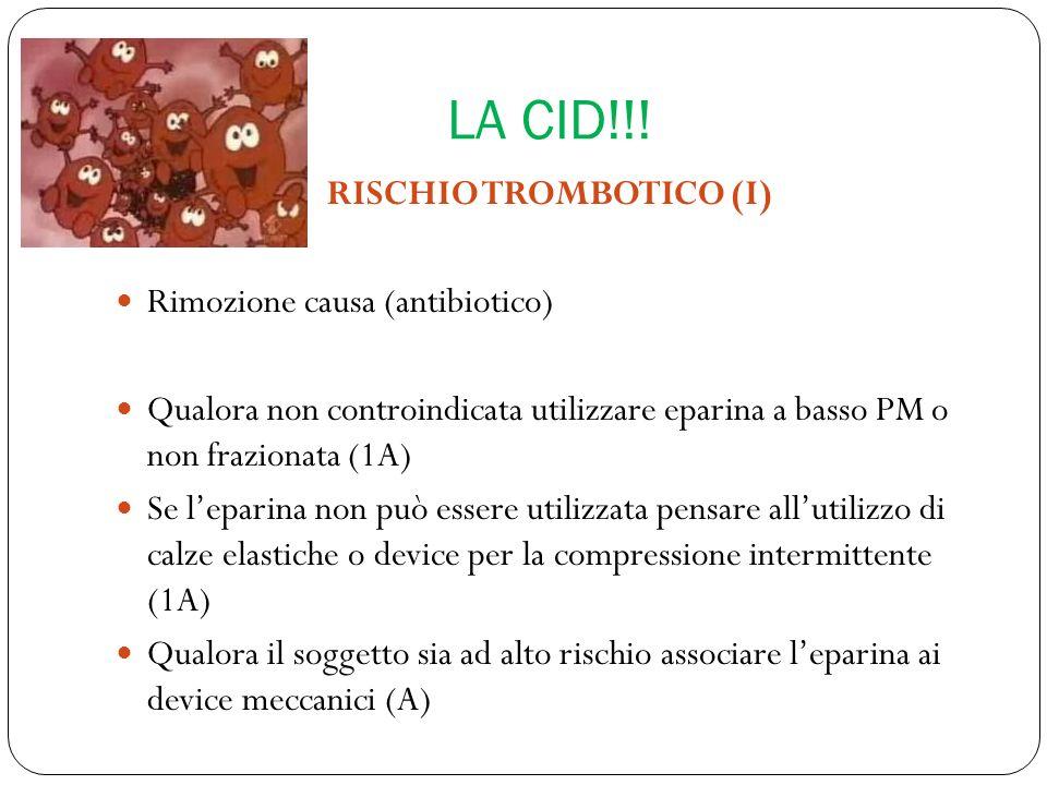 RISCHIO TROMBOTICO (I)