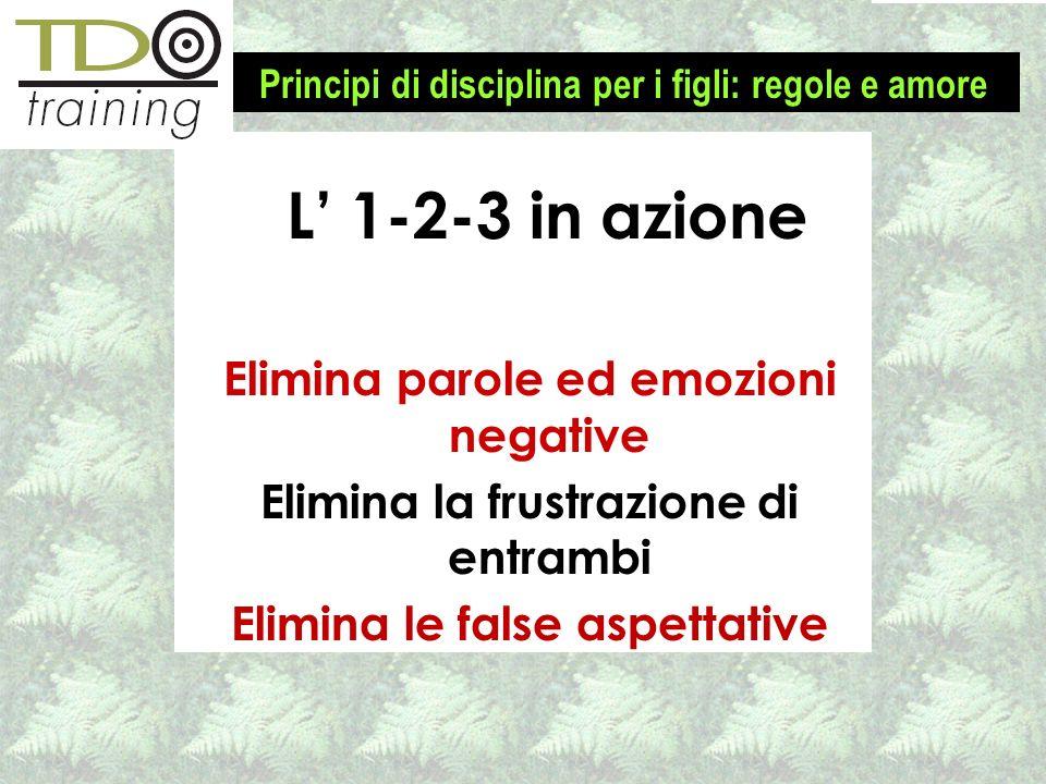 L' 1-2-3 in azione Elimina parole ed emozioni negative