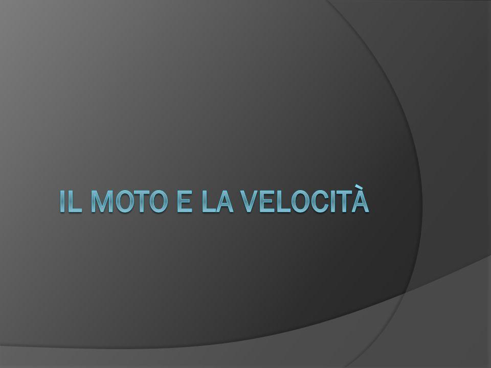 Il moto e la velocità