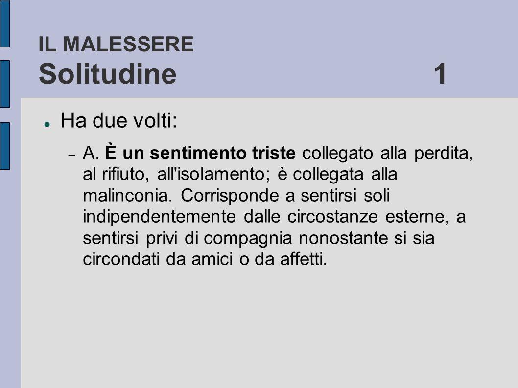 IL MALESSERE Solitudine 1