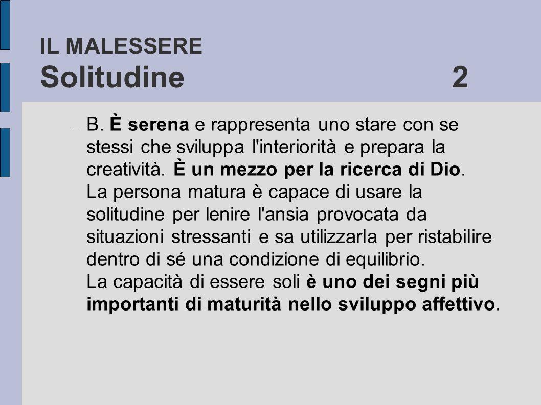 IL MALESSERE Solitudine 2