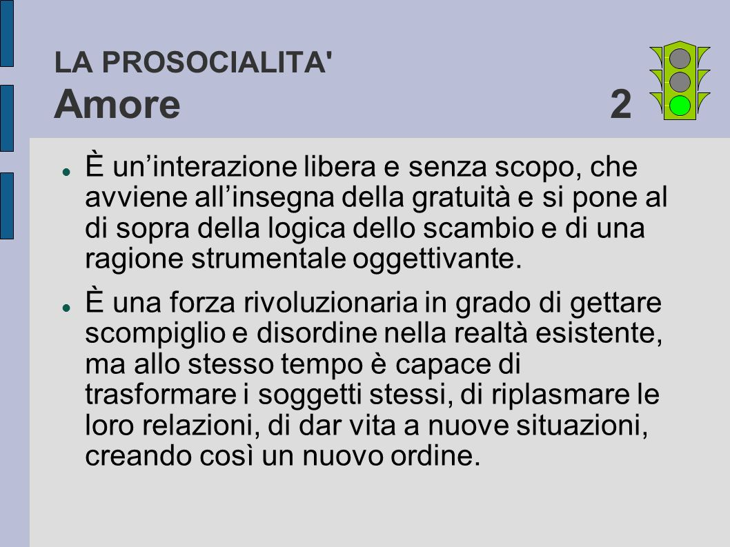 LA PROSOCIALITA Amore 2