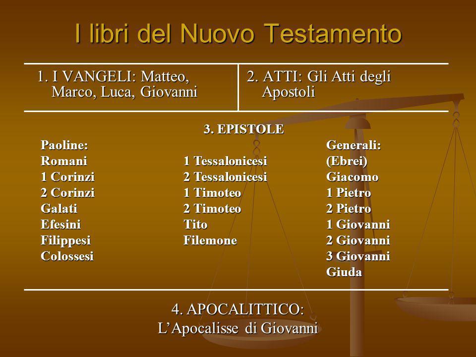I libri del Nuovo Testamento