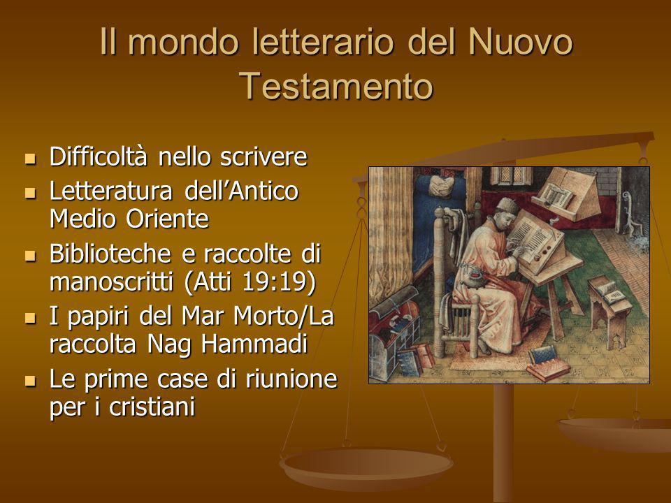 Il mondo letterario del Nuovo Testamento
