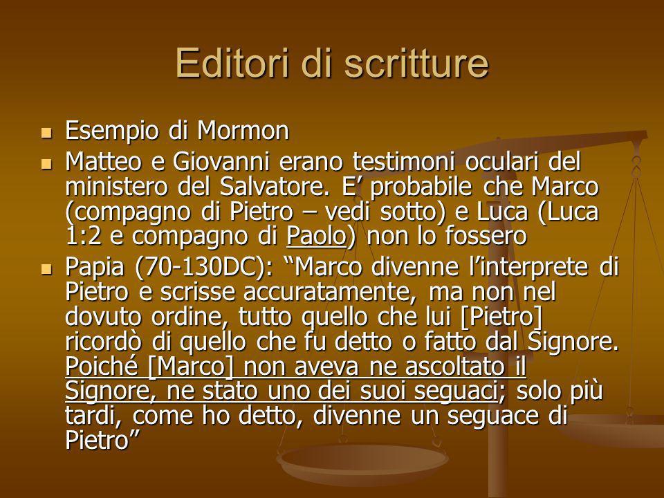 Editori di scritture Esempio di Mormon