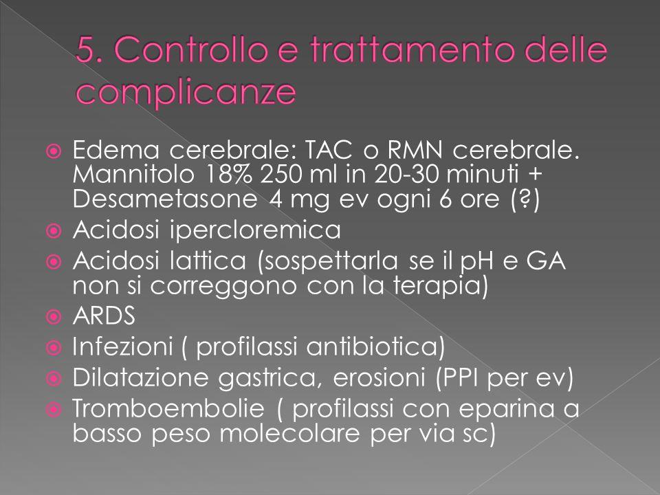 5. Controllo e trattamento delle complicanze