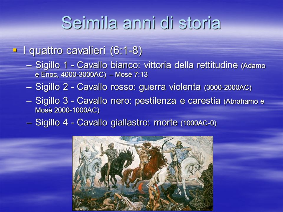 Seimila anni di storia I quattro cavalieri (6:1-8)