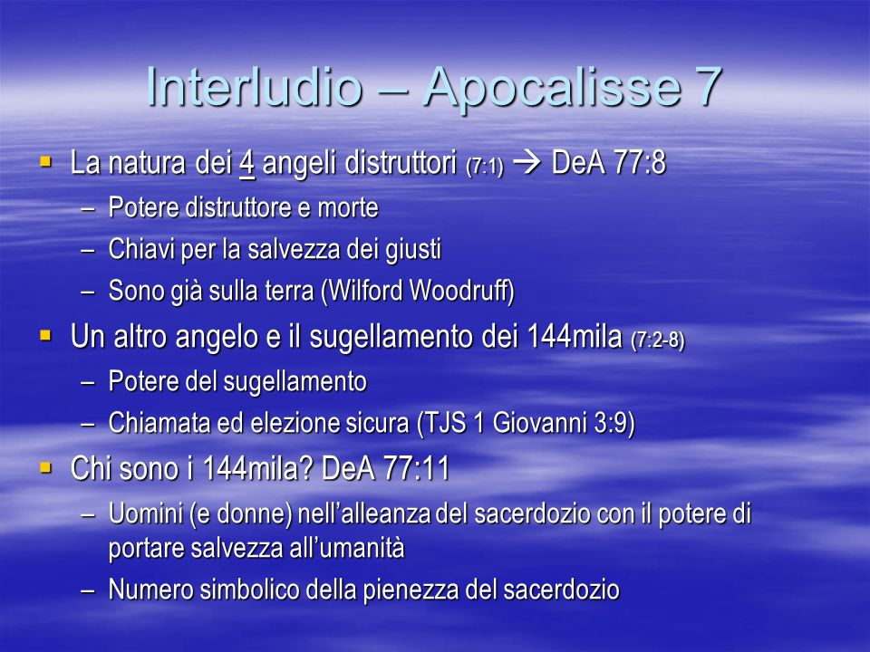 Interludio – Apocalisse 7