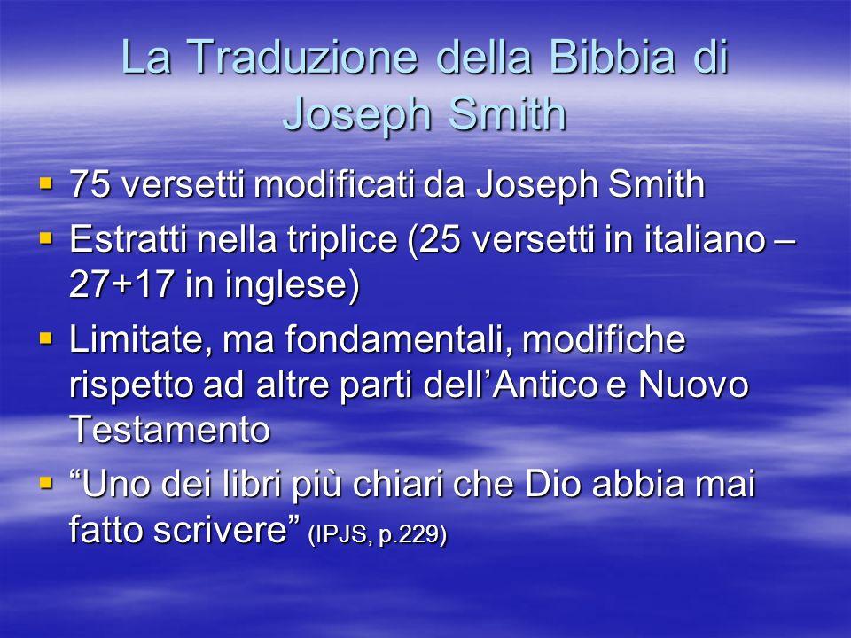 La Traduzione della Bibbia di Joseph Smith