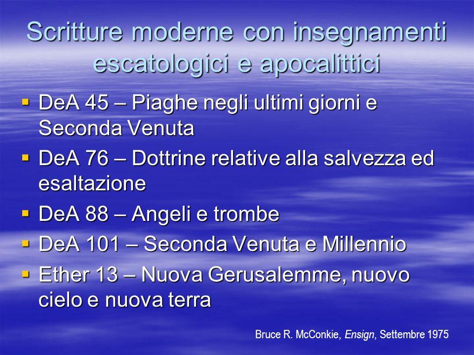 Scritture moderne con insegnamenti escatologici e apocalittici