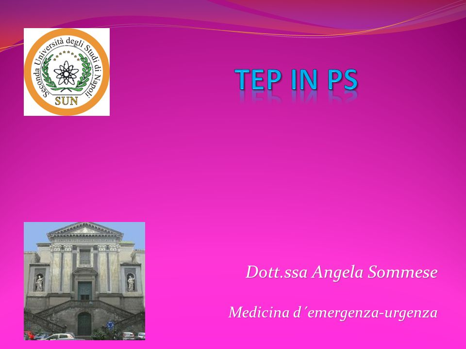 Dott.ssa Angela Sommese Medicina d´emergenza-urgenza