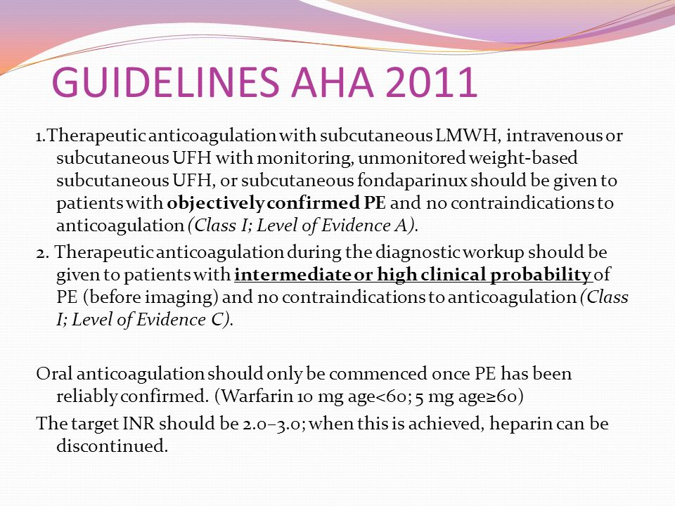 GUIDELINES AHA 2011