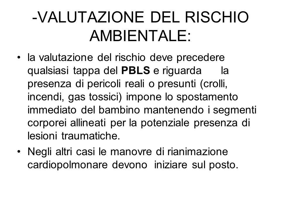 -VALUTAZIONE DEL RISCHIO AMBIENTALE: