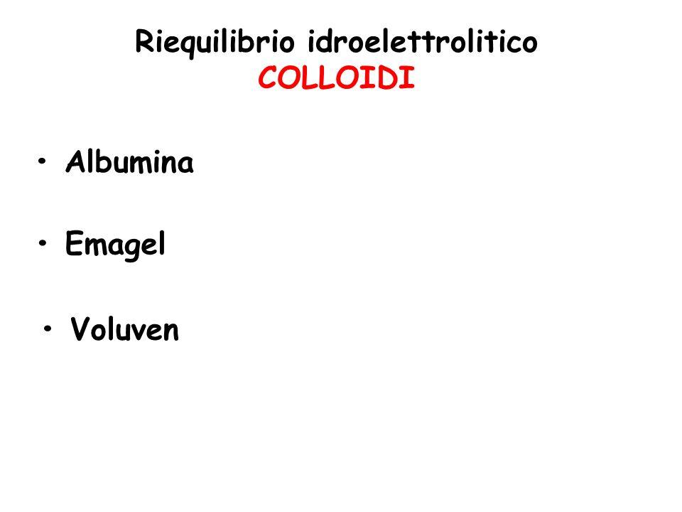 Riequilibrio idroelettrolitico COLLOIDI