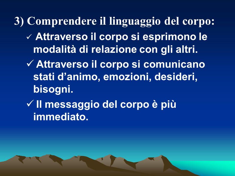 3) Comprendere il linguaggio del corpo:
