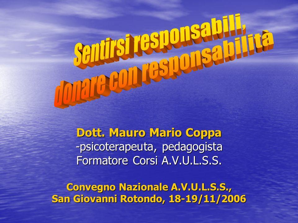 Convegno Nazionale A.V.U.L.S.S., San Giovanni Rotondo, 18-19/11/2006
