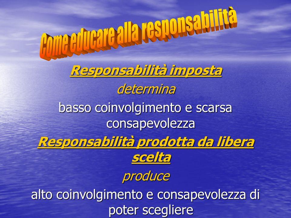 Responsabilità imposta Responsabilità prodotta da libera scelta
