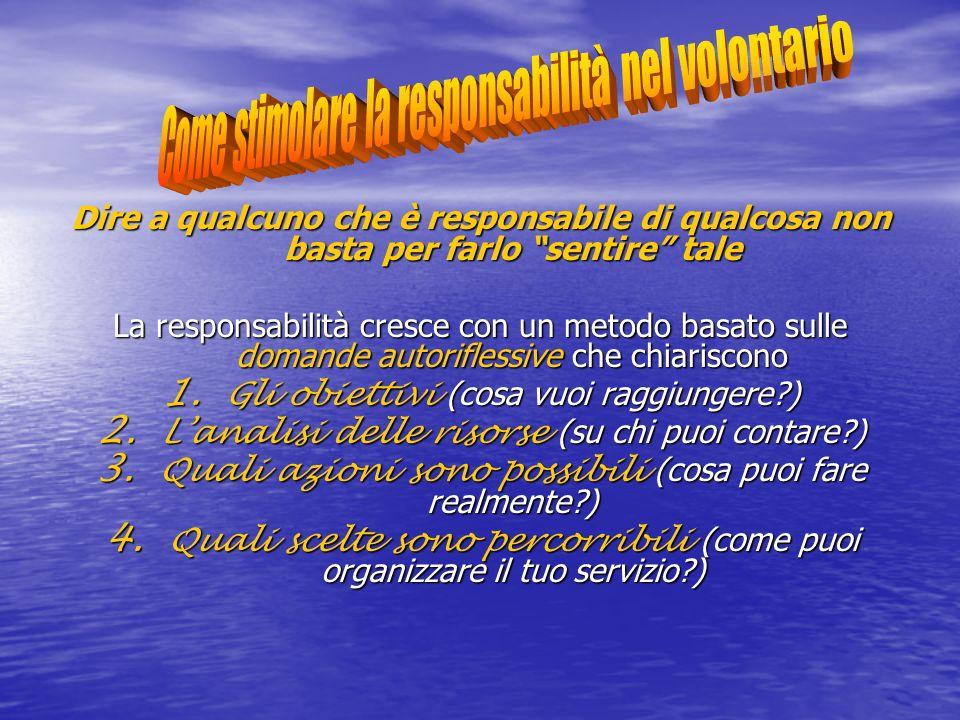 Come stimolare la responsabilità nel volontario