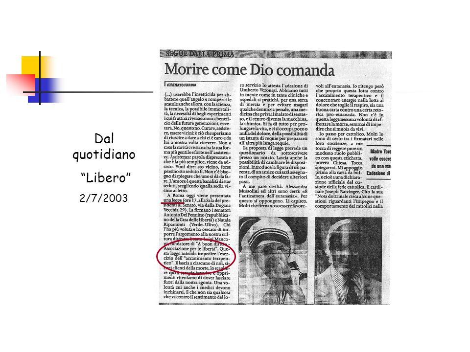 Dal quotidiano Libero 2/7/2003