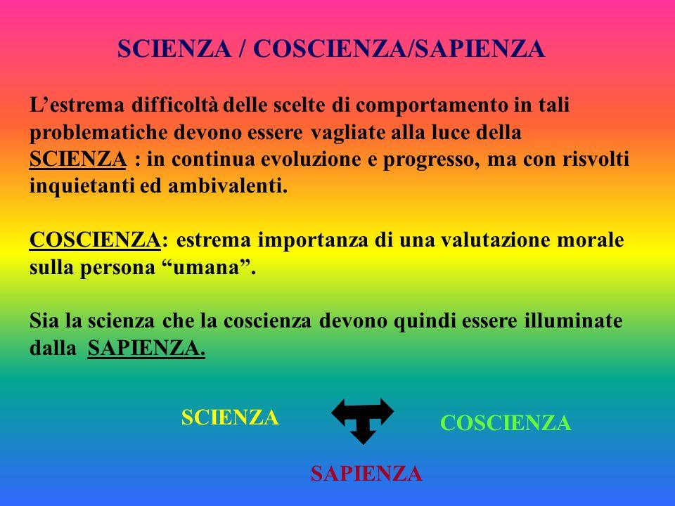 SCIENZA / COSCIENZA/SAPIENZA