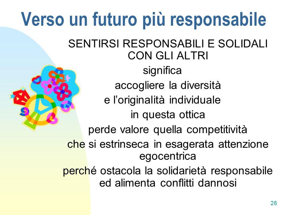 Verso un futuro più responsabile