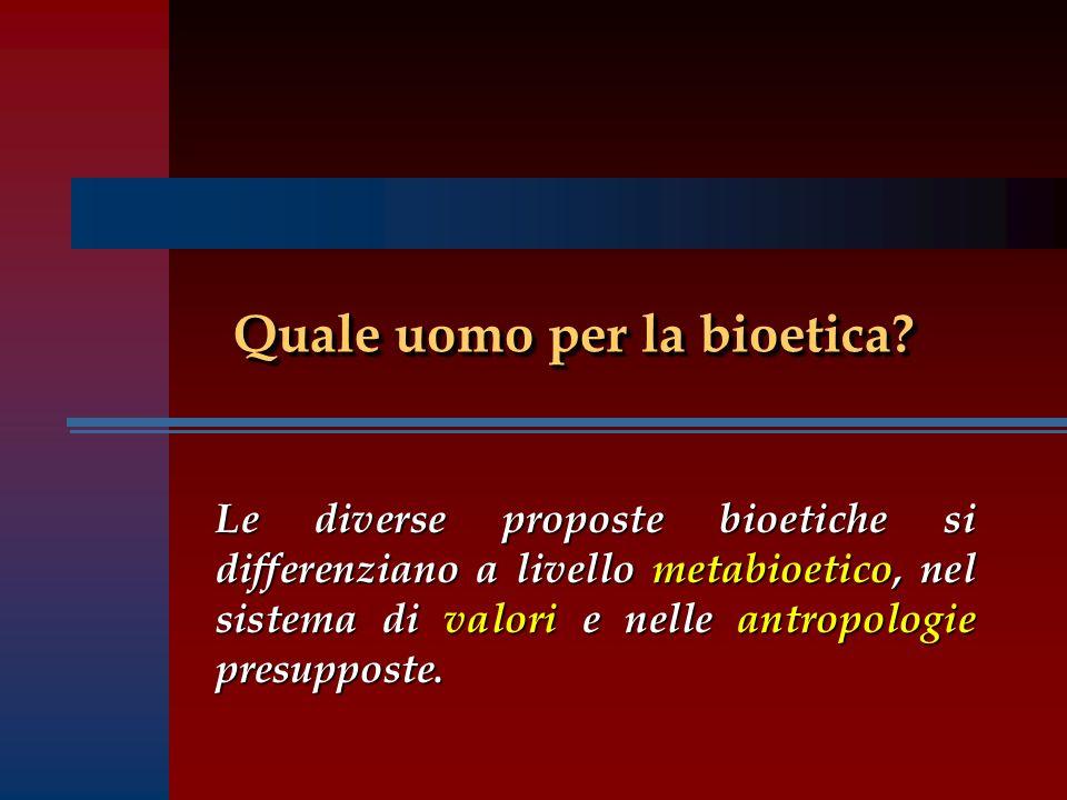 Quale uomo per la bioetica