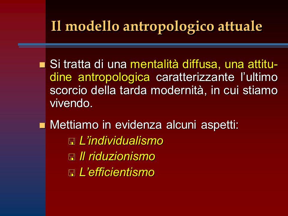 Il modello antropologico attuale